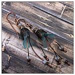 Frost Fairy Flower Cascade Earrings in Antique Copper, Lucite Flower Earrings