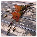 Autumn Fairy Flower Cascade Earrings in Antique Bronze, Lucite Flower Earrings