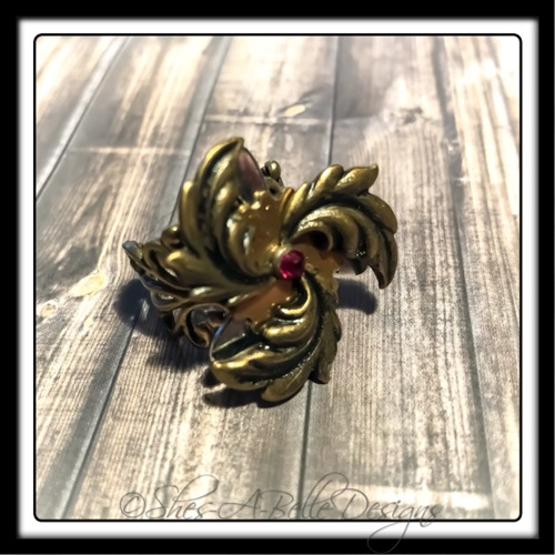 Airship Captain Propeller Ring in Antique Bronze, Adjustable Steampunk Ring