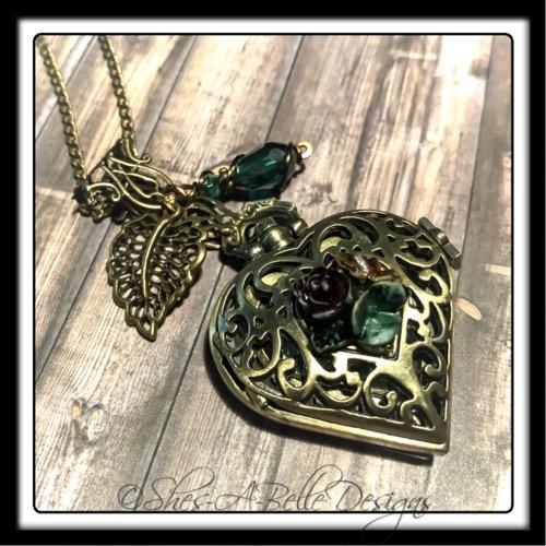 Heart's Desire Pocket Watch Necklace in Antique Bronze, Victorian Steampunk Pocket Watch