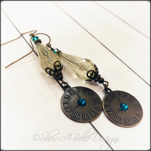 Time Keeper's Steampunk Earrings in Antique Bronze, Steampunk Earrings