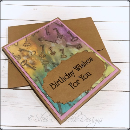Birthday Wishes for You Handmade and Embossed Greeting Card, A2 Size