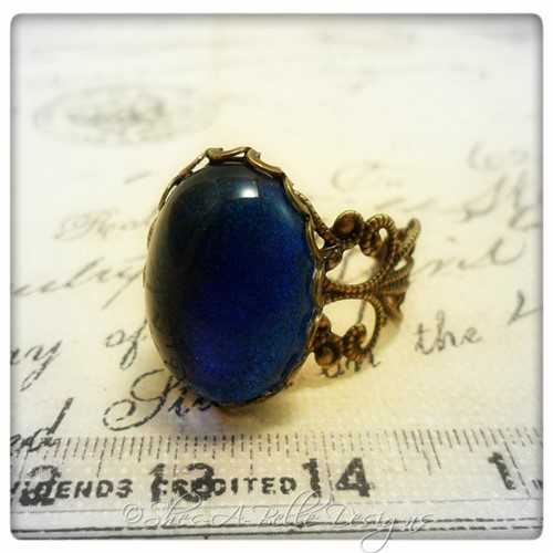 Astrid Victorian Style Filigree Ring in Antique Bronze, Adjustable