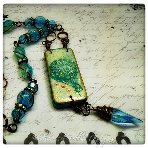 Sky's The Limit OOAK Upcycled Rustic Domino Necklace in Antique Bronze