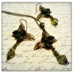 Butterfly Sting Necklace Set in Mixed Metals, A Tribute to the Great Ones
