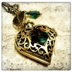 Heart's Desire Pocket Watch Necklace in Antique Bronze, Victorian Steampunk Pocket Watch