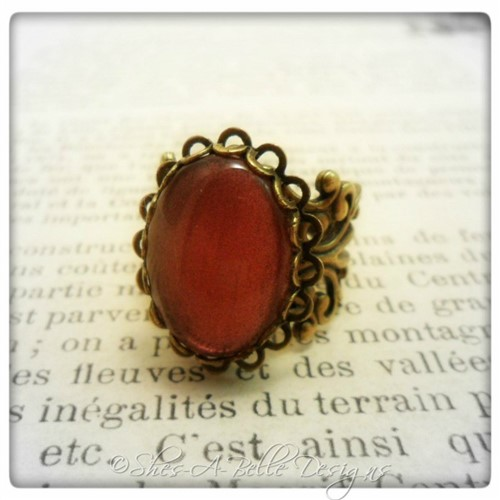 Lady Mary Downton Abbey Inspired Ring in Antique Bronze, Adjustable Victorian Style Ring