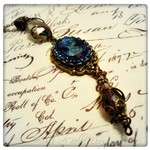 Victorian Elegance Purple Cameo Necklace in Antique Bronze, Victorian Steampunk Necklace