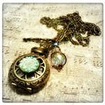 Enchantment Pocket Watch Necklace in Antique Bronze, Victorian Steampunk Pocket Watch