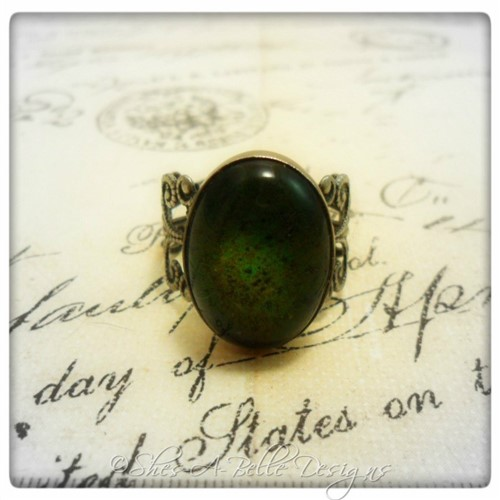 Vintage Mood Ring in Antique Silver, Adjustable